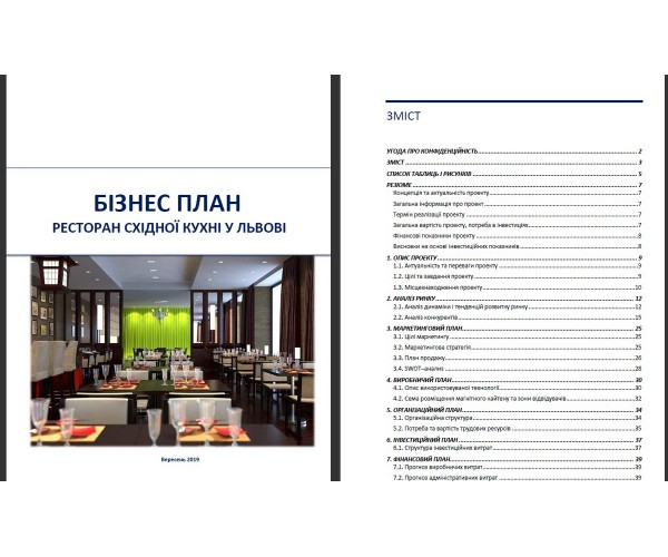 Бізнес-план ресторану східної кухні